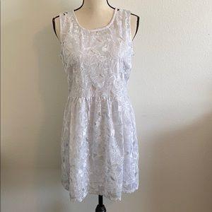 Monteau White Open Floral Lace Dress - NWT